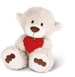 Nici Love Bear off-white with heart 50cm scoop