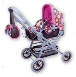 Doll Buggy Twingo-S - Brown Splash Gift Box