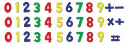 Roba wood magnet numbers 35-piece