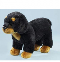 Rottweiler black-brown standing 25cm