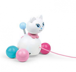 Vilac - Pull Along Toy Cat Minette white Wood