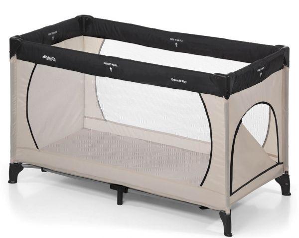 hauck reisebett dream n play plus 60x120cm beige grey. Black Bedroom Furniture Sets. Home Design Ideas