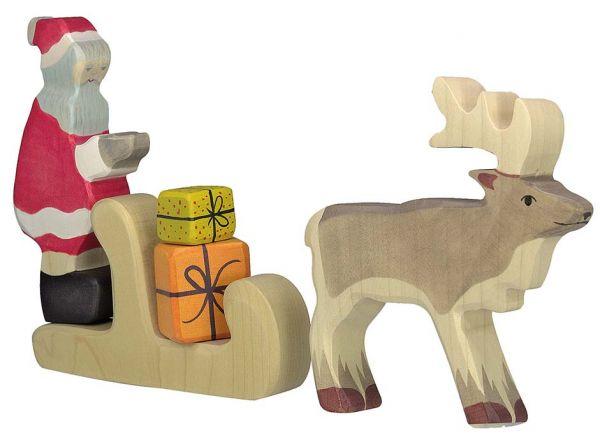holztiger weihnachtszauber holzfigur weihnachtsmann. Black Bedroom Furniture Sets. Home Design Ideas