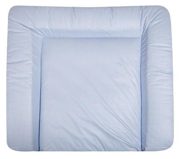 julius z llner wickelauflage folie vichy blau 85x75 cm. Black Bedroom Furniture Sets. Home Design Ideas