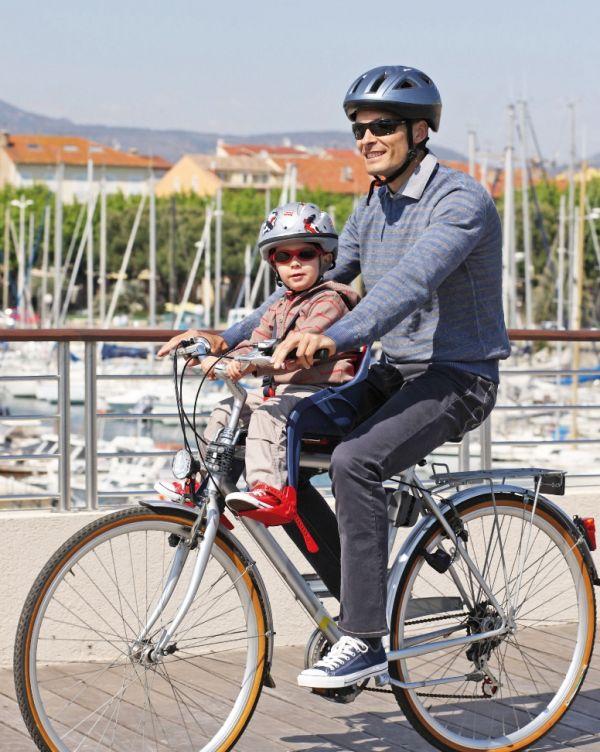 ok baby kinder fahrradsitz orion f r lenker blau rot. Black Bedroom Furniture Sets. Home Design Ideas