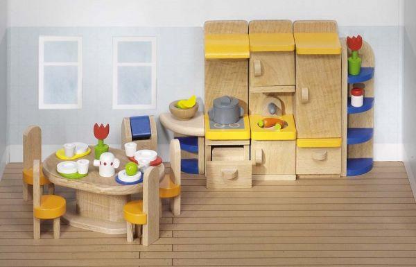 Etagenbett Puppenhaus : Goki puppenhaus einrichtung küche teilig